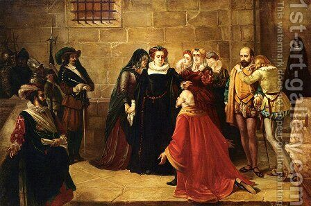 Before The Execution by Antoine Springael - Reproduction Oil Painting