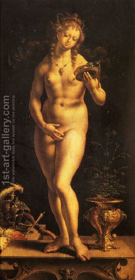 Venus And The Mirror by Jan (Mabuse) Gossaert - Reproduction Oil Painting