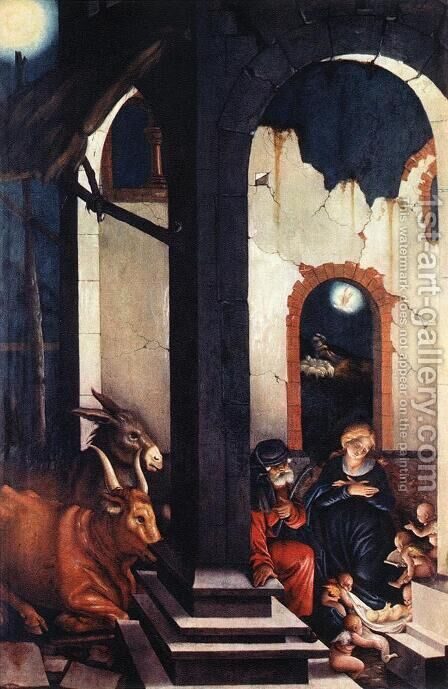 Nativity by Hans Baldung  Grien - Reproduction Oil Painting