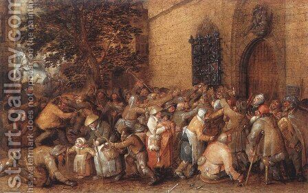 Distribution of Loaves to the Poor by David Vinckboons - Reproduction Oil Painting