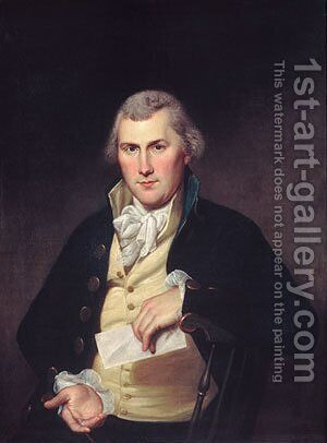 Elie Williams by Charles Willson Peale - Reproduction Oil Painting