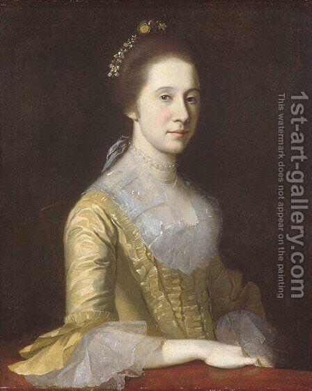Margaret Strachan (Mrs. Thomas Harwood) by Charles Willson Peale - Reproduction Oil Painting