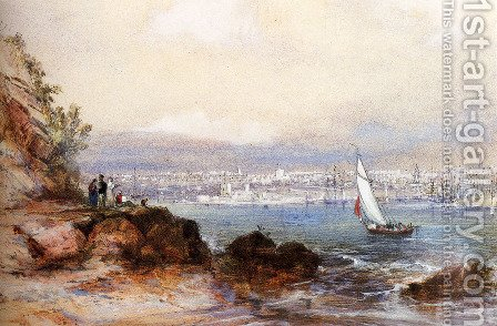View Of Sydney Harbour by Conrad Martens - Reproduction Oil Painting
