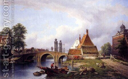 Het Rechthuys in Watergraafsmeer, Amsterdam by Eduard Alexander Hilverdink - Reproduction Oil Painting