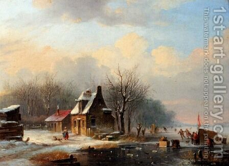 Winter by Jacobus Van Der Stok - Reproduction Oil Painting