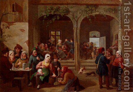 Merrymaking In The Tavern by Constantin Fidèle Coene - Reproduction Oil Painting