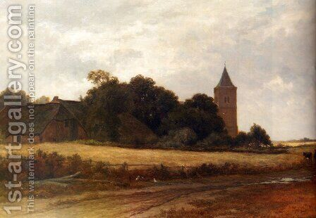 Landschap in't Gooi bij het dorp Blaricum by Adriaen van Everdingen - Reproduction Oil Painting