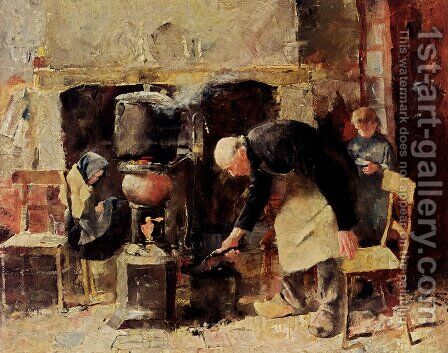 Preparing The Meal by Jan Toorop - Reproduction Oil Painting