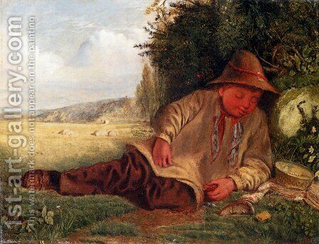 Afternoon Rest by James Smetham - Reproduction Oil Painting