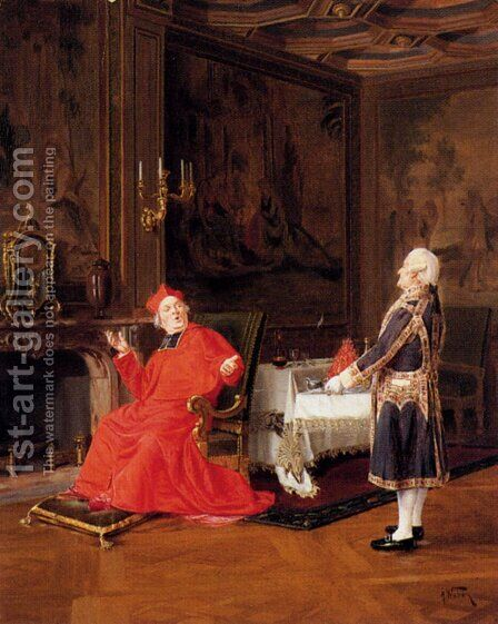 Prawns For The Cardinal by Alfred Charles Weber - Reproduction Oil Painting