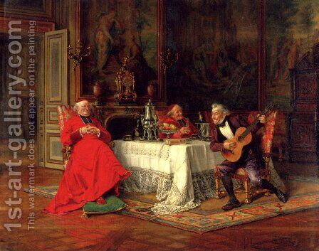 The Musical Interlude by Alfred Charles Weber - Reproduction Oil Painting