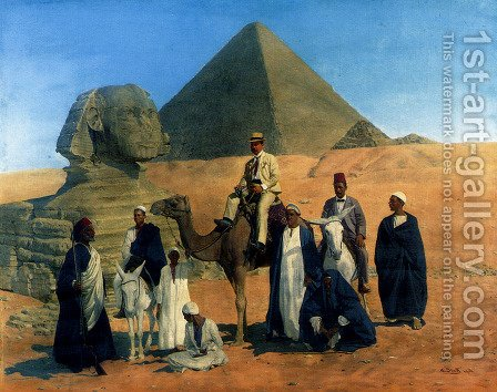 In Search Of The Pharaohs by Alois Stoff - Reproduction Oil Painting