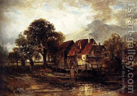 The Old Mill by Carl Ebert - Reproduction Oil Painting