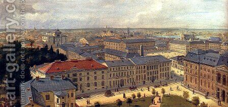Views Of Warsaw (Pic 1) by Cheslas Bois Jankowski - Reproduction Oil Painting
