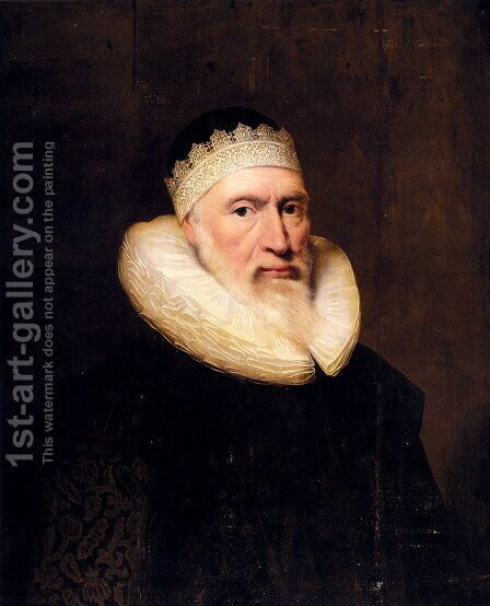 Portrait Of A Gentleman by Cornelius Jonson - Reproduction Oil Painting