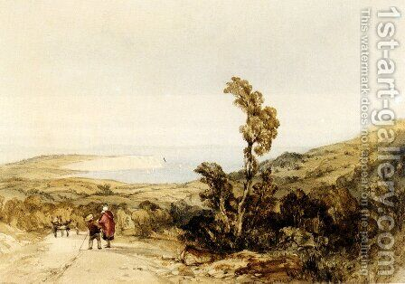 Sandown Bay, Isle Of Wight by Charles Bentley - Reproduction Oil Painting