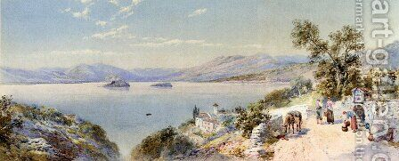 A View Of Lake Maggiore And The Borromean Islands by Charles Rowbotham - Reproduction Oil Painting