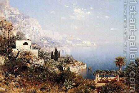 Off The Amalfi Coast by Edmund Berninger - Reproduction Oil Painting