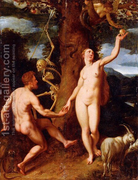 The Fall Of Man by Cornelis Cornelisz Van Haarlem - Reproduction Oil Painting