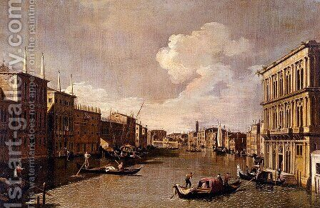 View Of The Grand Canal From The Palazzo Vendramin Calergi To San Geremia by Apollonio Domenichini - Reproduction Oil Painting