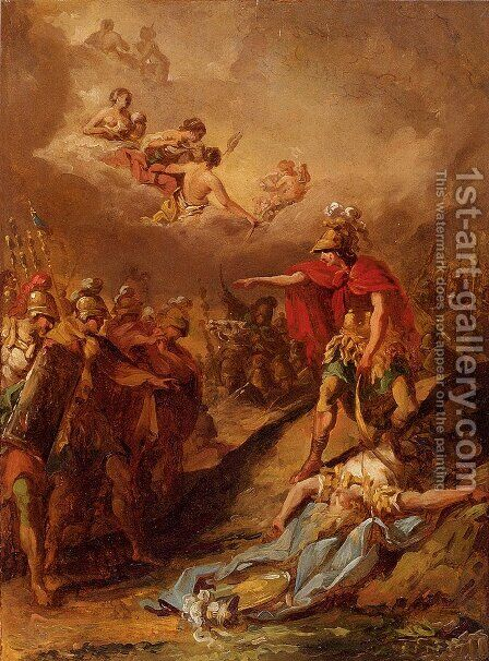 The Death Of Pallas by Jacques-Henri Sablet - Reproduction Oil Painting