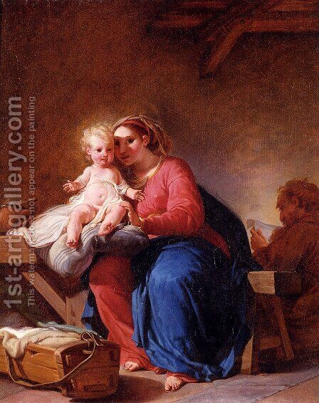 Holy Family by Hugues Taraval - Reproduction Oil Painting