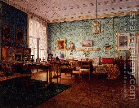 Interior Of A Living Room by Eduard Ritter - Reproduction Oil Painting