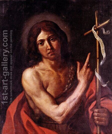 Saint John The Baptist by Giovanni Francesco Guercino (BARBIERI) - Reproduction Oil Painting