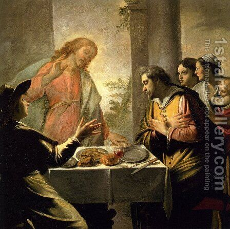 The Supper At Emmaus by Mathieu Le Nain - Reproduction Oil Painting