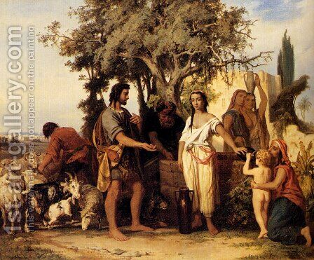 Rebecca At The Well by Alexander Neumann - Reproduction Oil Painting