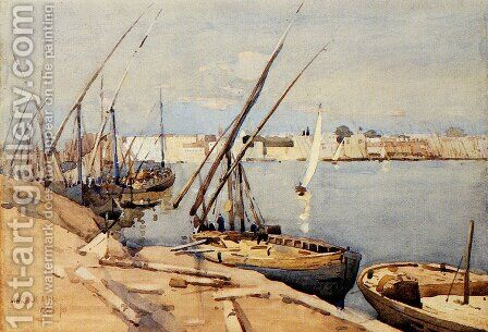 A Harbor In Cairo by Arthur Melville - Reproduction Oil Painting
