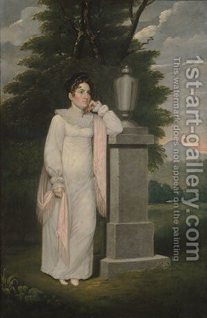 Mrs. Cephas Thompson (Olivia Leonard) by Cephas Thompson - Reproduction Oil Painting
