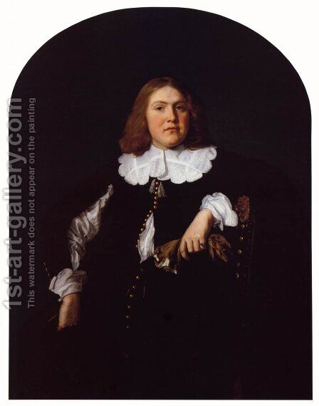 A Portrait Of A Gentleman, Three Quarter Length by Bartholomeus Van Der Helst - Reproduction Oil Painting