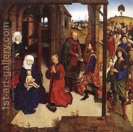 The Adoration of the Magi by Dieric the Younger Bouts - Reproduction Oil Painting