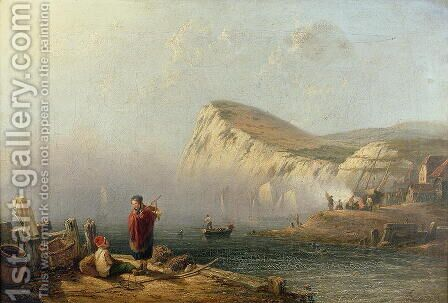 Beachy Head, 1850 by James Wilson Carmichael - Reproduction Oil Painting