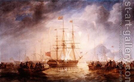 Queen Victoria's Arrival in Edinburgh by James Wilson Carmichael - Reproduction Oil Painting