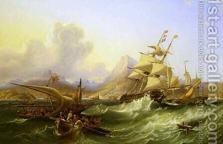 Off the Turkish Coast 1854 by James Wilson Carmichael - Reproduction Oil Painting