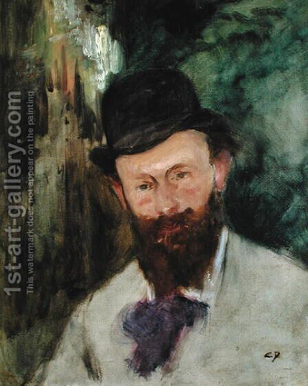 Portrait of Edouard Manet (1832-83) c.1880 by Carolus (Charles Auguste Emile) Duran - Reproduction Oil Painting