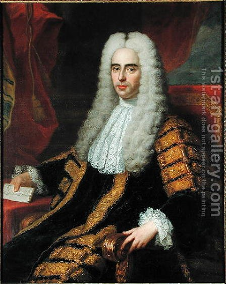 Portrait of Rt Hon John Methven as Lord Chancellor of Ireland by Adrien Carpentiers - Reproduction Oil Painting