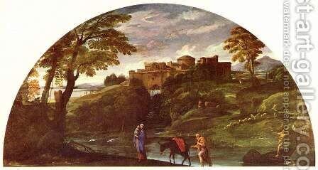 Landscape with the Flight into Egypt by Annibale Carracci - Reproduction Oil Painting