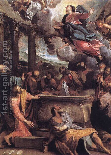 The Assumption of the Virgin, c.1590 by Annibale Carracci - Reproduction Oil Painting