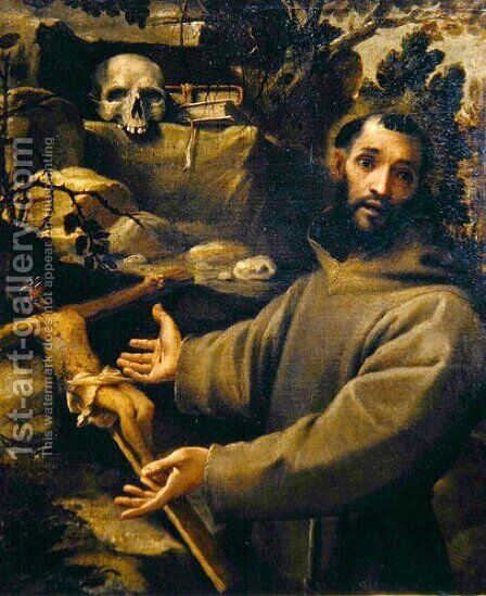 St. Francis, c.1585-86 by Annibale Carracci - Reproduction Oil Painting