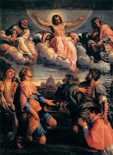 Christ in Glory with the Saints by Annibale Carracci - Reproduction Oil Painting