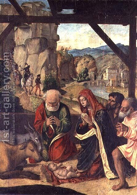 Nativity by Baldassare di Matteo, the Younger Carrari - Reproduction Oil Painting