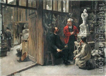 The Sculptor's Studio by Albert-Ernest Carrier-Belleuse - Reproduction Oil Painting