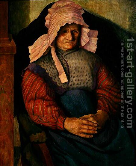Mrs Box, 1919 by Dora Carrington - Reproduction Oil Painting