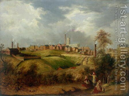 Oldham from Glodwick by James Howe Carse - Reproduction Oil Painting