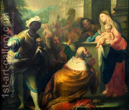 The Adoration of the Magi, c.1750 by Andrea Casali - Reproduction Oil Painting