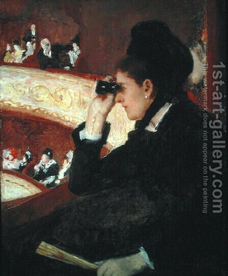 In the Loge, 1879 by Mary Cassatt - Reproduction Oil Painting