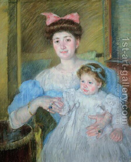 The Countess Morel d'Arleux and her Son, c.1906 by Mary Cassatt - Reproduction Oil Painting